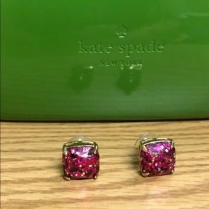 Like new Pink glitter ✨ Kate spade ♠️ earrings